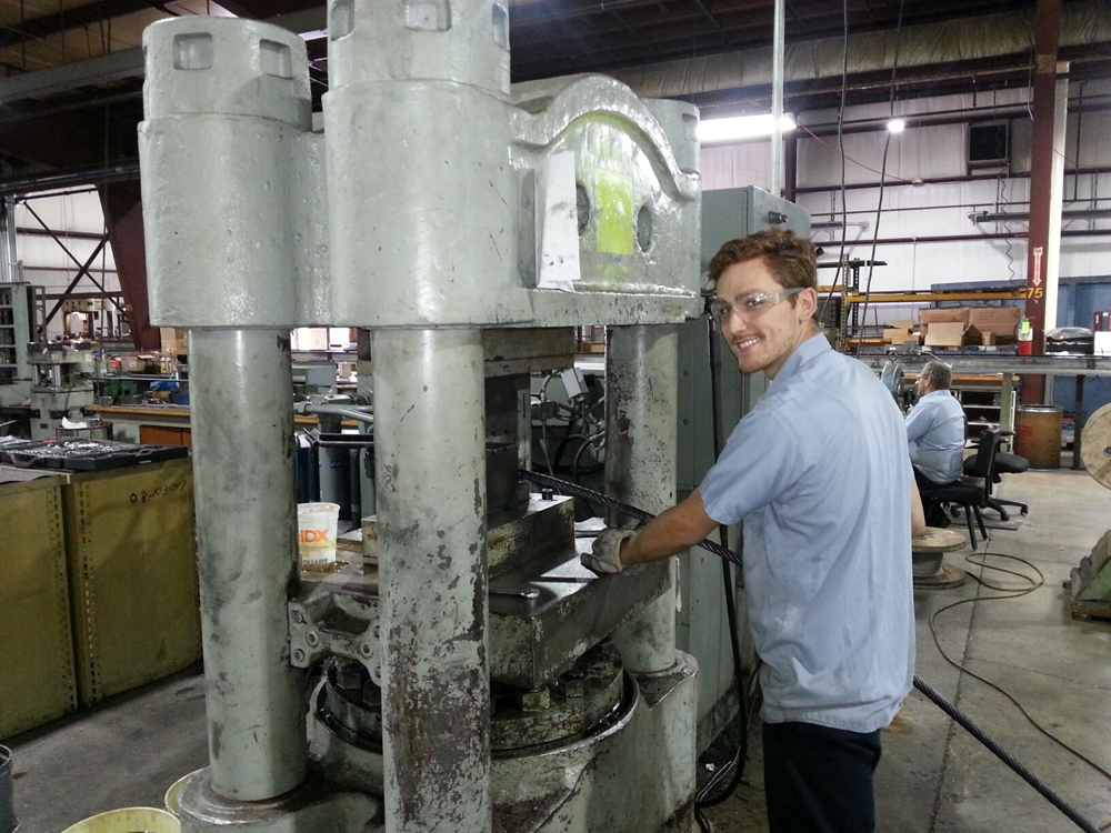 Mark (assembly lead) swaging boom cable assembly