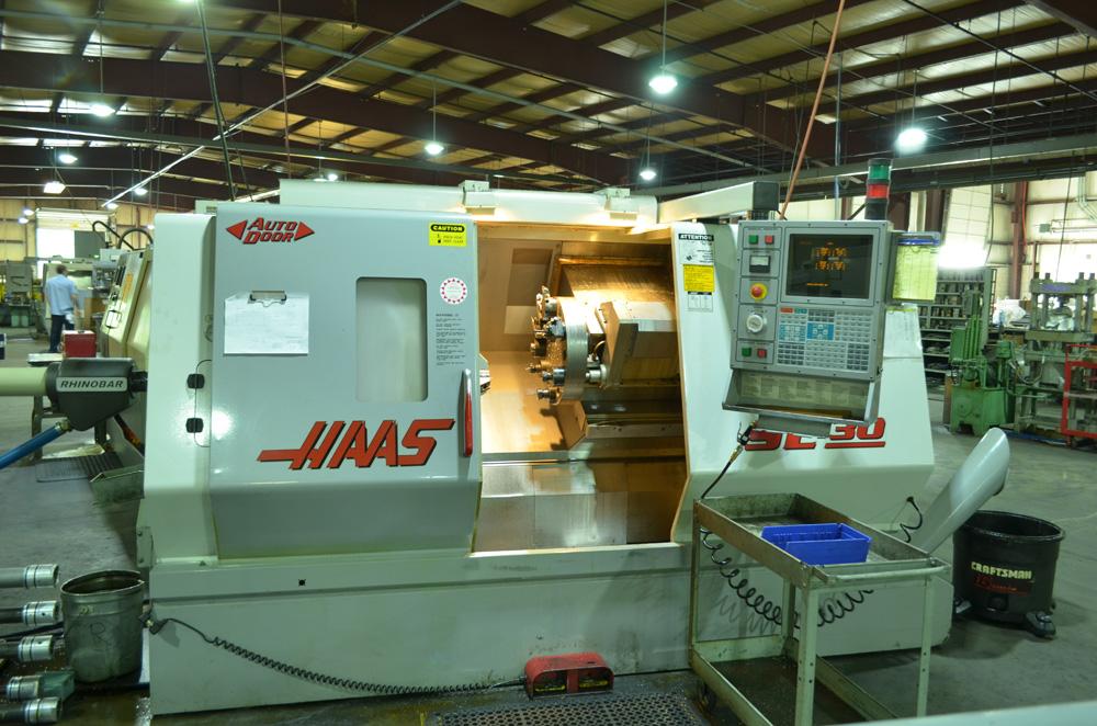 Haas SL30 CNC lathe with auto bar feed