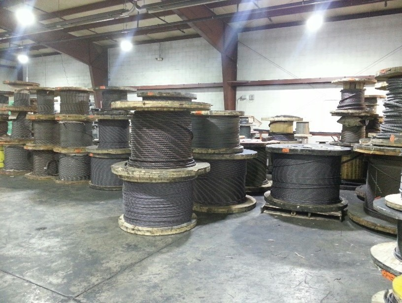 Hoist and crane cable