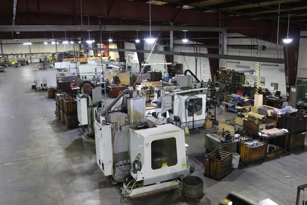 Machining department from mezzanine