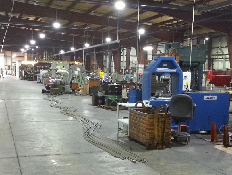New Talurit 1000-ton swaging press