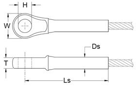 Closed-Swage-Socket-Fitting Diagram